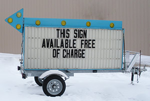 This sign available free of charge!